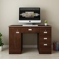 Panana Lockable компьютерный стол с шкафом w/3 ящиками PC письменный стол для домашнего офиса/кабинета