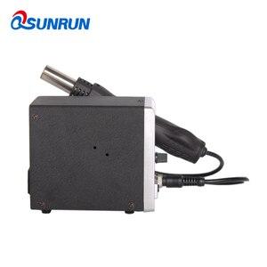 Image 3 - Qsunrun 700W BGA / IC Hot wiatrówka srebrny 858D stacja lutownicza ESD LED cyfrowy wyświetlacz SMD stacja rozlutownicy LCD Repair Tool