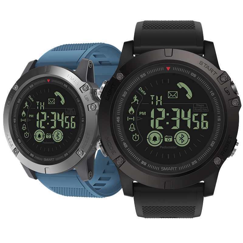 2019 New Zeblaze VIBE 3 Flagship Rugged Smartwatch Bracelet All-day Activity Record 5ATM 33 Month Long Standby Sport Smart Watch