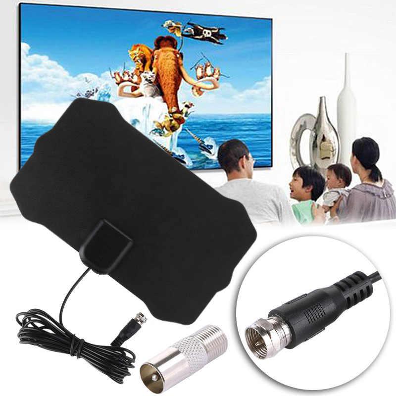 50 Miles High Gain Indoor Freeview TV antena Digital HD TV radius Aerial Surf HDTV booster VHF UHF radio Antenna