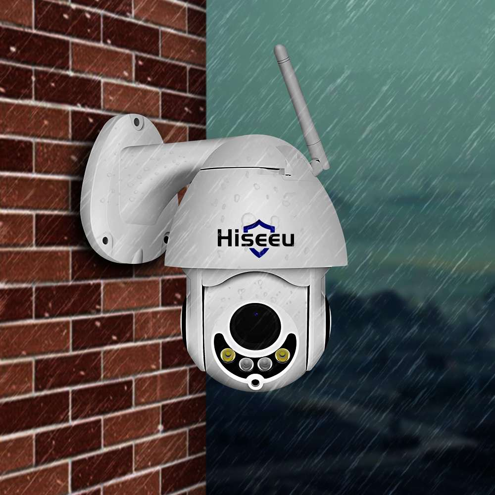 Hiseeu 1080P PTZ 5X Zoom Audio IP Camera Outdoor Waterproof Mini Wifi Camera 2MP Color Night Vision P2P CCTV Security Camera