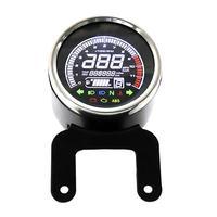 VODOOL 12V Motorcycle Replacement LCD Light Digital Speedometer Tachometer Odometer Water Temp Fuel Gauge Motorbike Speed Meter