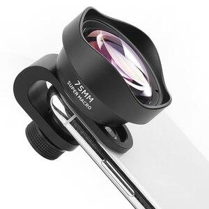 Image 2 - Pholes 75 مللي متر المحمول ماكرو عدسة الهاتف كاميرا ماكرو العدسات ل فون Xs ماكس Xr X 8 7 S9 S8 s7 Piexl كليب على 4k Hd عدسة
