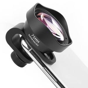 Image 2 - Pholes 75mm Mobile Macro Lens Phone Camera Macro Lenses For Iphone Xs Max Xr X 8 7 S9 S8 S7 Piexl Clip On 4k Hd Lens