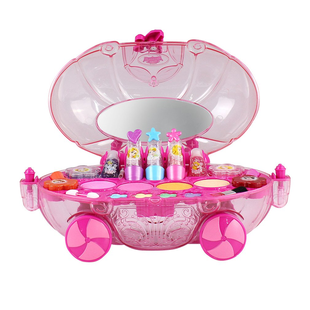 Princess Makeup Set Fashion Car Toy Modeling Toys Girls Water Soluble Beauty Pretend Play For Kids Birthday GiftPrincess Makeup Set Fashion Car Toy Modeling Toys Girls Water Soluble Beauty Pretend Play For Kids Birthday Gift