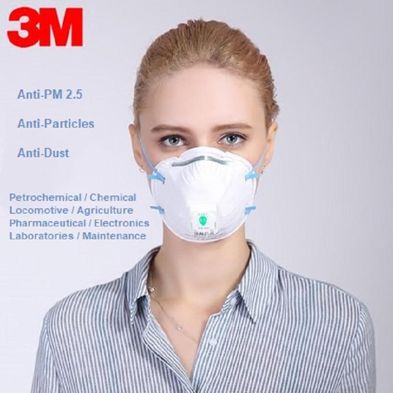 3m Ffp2 8822 Dust Mask Anti-static Pm 2.5 Filter Respirator Mask Coldflow Valve Industrial Safety Fog Smoke Respirator Mask