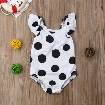 Modern Polka Dot Swimsuite - Girl