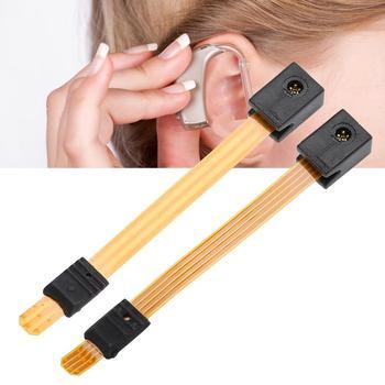 3 Pins 4 piny aparaty słuchowe programowania złącze adapter połączenia paski dla większości aparaty słuchowe programowania skorzystaj z tanie i dobre opinie TMISHION Hearing Aids Programming Connector