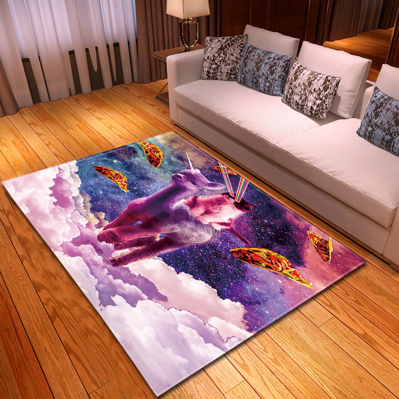 Nordic 3D Alpaca Carpet Cartoon Animal Bedroom Kids Play Mat Soft Flannel Memory Foam Big Area Rugs And Carpets For Living Room
