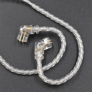 Image 4 - CCA KZ ZSN Earphones Silvers Cable Zsn Pro Plated Upgrade Cable 2pin Gold plated Pin 0.75mm for  KZ ZSN Pro zs10 pro KB06 KB10