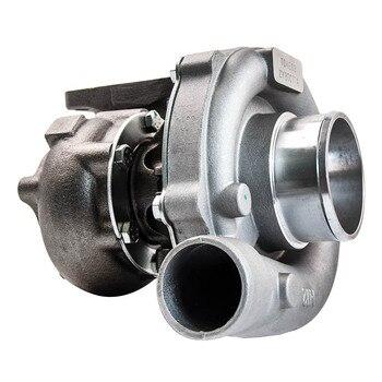 Двигатель 5 л.с. | Для Форд Додж турбо зарядное устройство турбо T3/T4 T3T4 T04E 0,5 A/R 0.63A/R 800HP с масляным охлаждением для гибридного фланца T3 2,5 дюйма V-зарядное устрой...