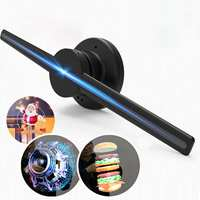 Upgraded 42cm/16.54 Wifi 3D Full Naked Eye Hologram player LED Fan Store Advertising Holographic Display Rotation Projection