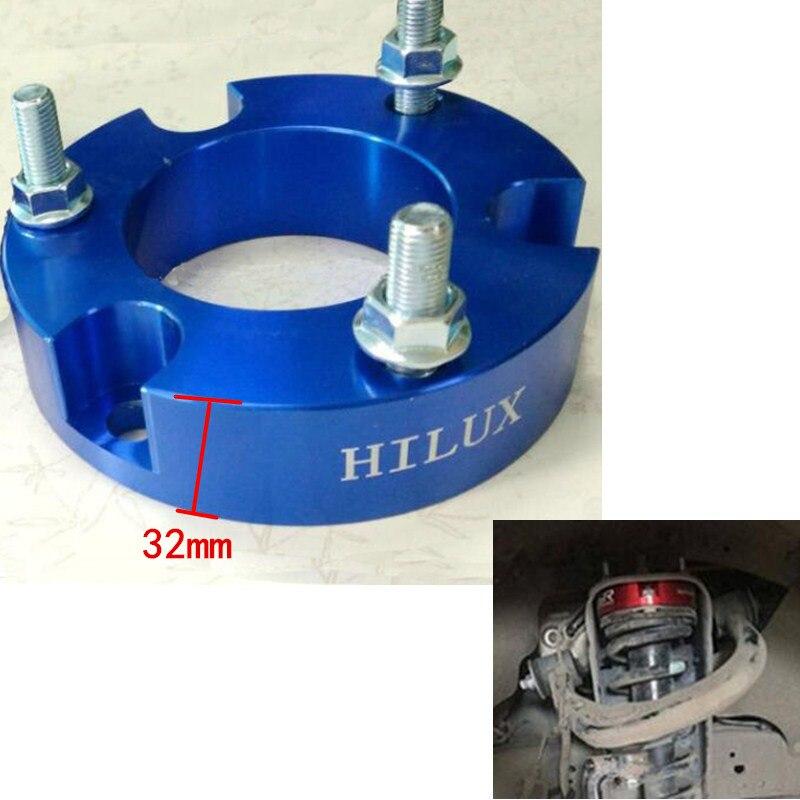 2 adet 32mm Ön kaldırma boşluk vigo Için Şok spacer Toyota Hilux VIGO REVO helezon yay Spacer yükseltme kiti hilux parçaları 4x4 off road