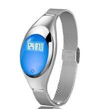 Z18 akıllı saat bilezik kan basıncı test cihazı nabız monitörü kadınlar için hediye