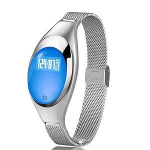 Image 1 - Z18 inteligentna bransoletka do zegarka tester ciśnienia krwi pulsometr dla kobiet prezent