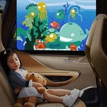 2 шт. универсальное мультяшное магнитное боковое окно автомобиля занавес УФ защита козырек покрывало для автомобильного сиденья оконные шторы для малышей