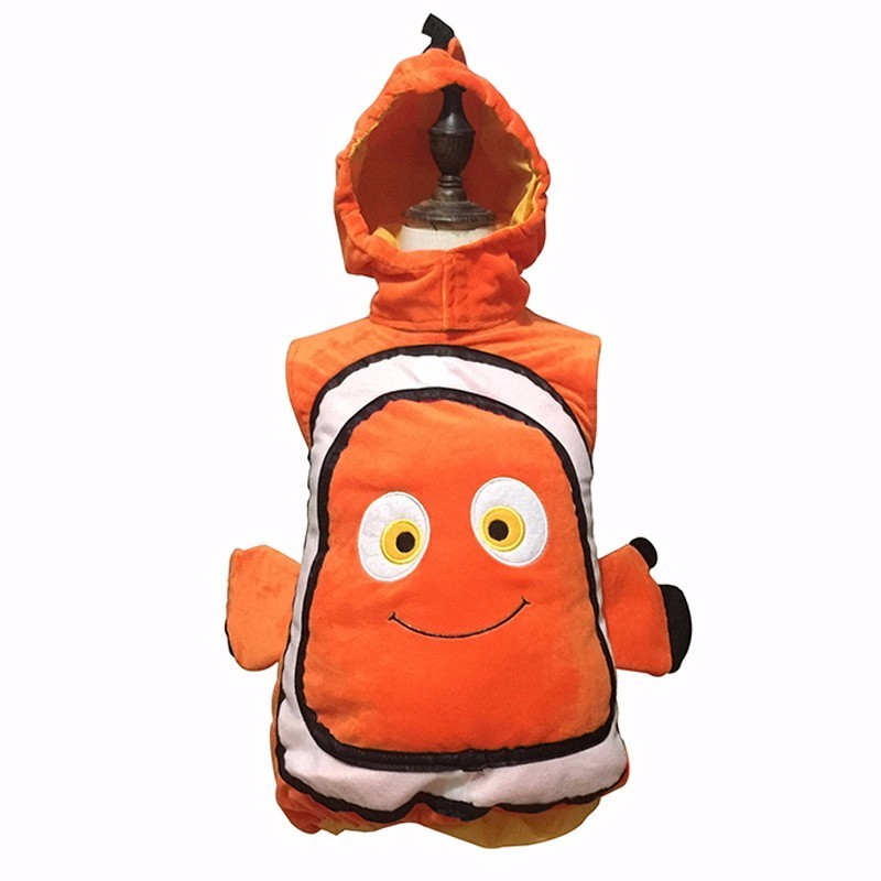 Animated Film Finding Nemo Clownfish Nemo Cosplay Costume  Little Baby Funny Fancy Dress Carnival Halloween Party Costume