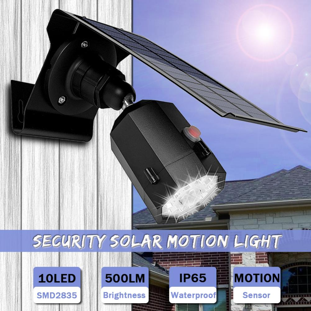 10 Led 500lm 5w Waterproof Outdoor Motion Sensor Solar Spotlight Flood Lamp Excellent In Cushion Effect