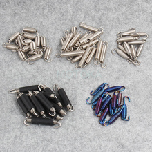 50pcs/Lot Universal Motorcycle Akrapovic Exhaust Spring Hooks Stainless Steel Accessories T Stand Puller Z Bracket Fixed Clamp