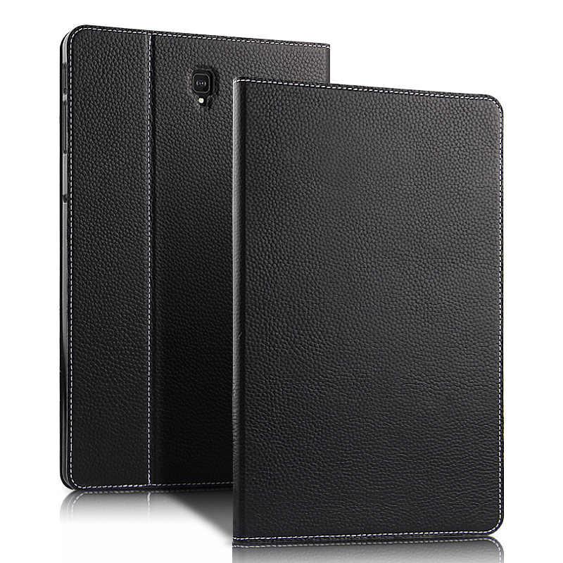 """Étui Cuir De Vachette Pour Samsung Galaxy Tab S4 10.5 SM T830 T835 T835C SM-T830/5 T835C 10.5 """"De Protection Pour Tablette étui cuir en véritable"""