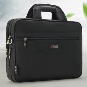 Image 3 - Business Mens Briefcase Large Capacity For Mens Handbags Totes 14.1 Inch Laptop Bags Black Official site Travel Crossbody Bag