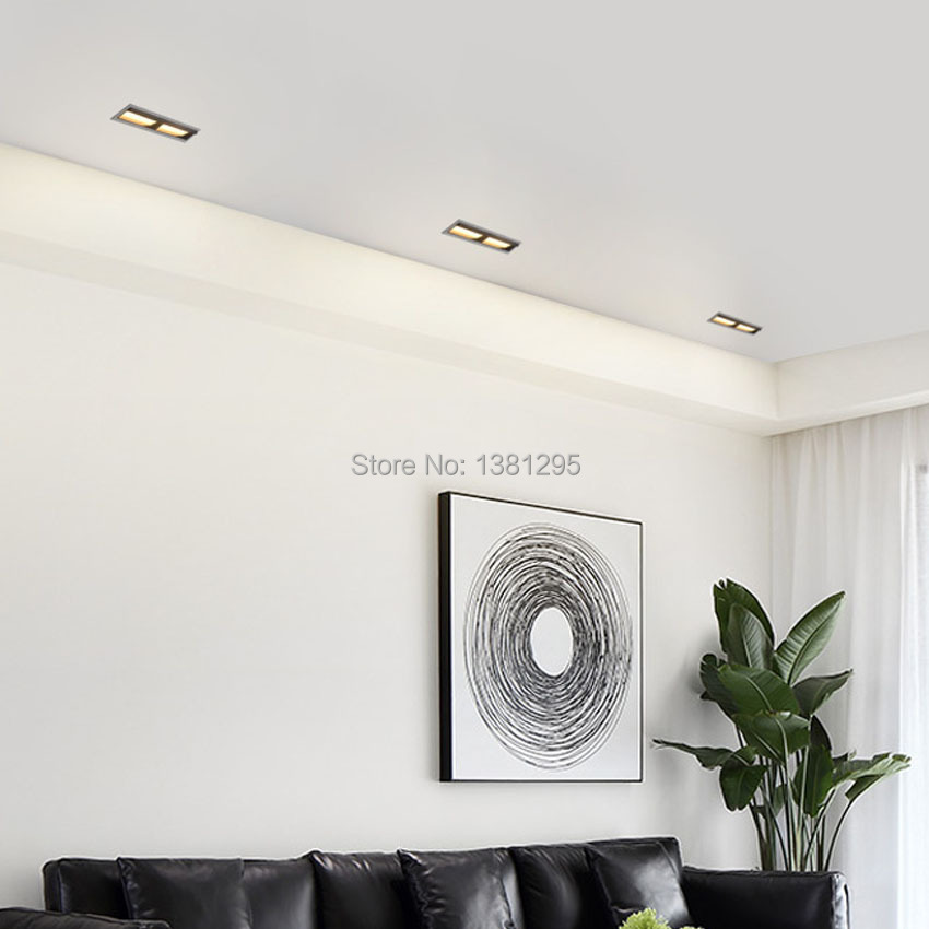 Laser Blade Downlight Linear Wall Washer Recessed Led Lighting Art Gallery Flush Mount Ceiling Down Light 10w 20w 30w Cri 90 Downlights Aliexpress