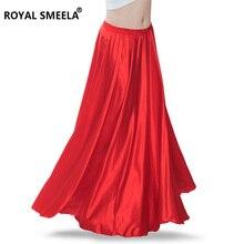 Nuevo diseño, ropa de danza del vientre de alta calidad, falda de danza del vientre, falda de satén sólido para danza del vientre, traje de actuación