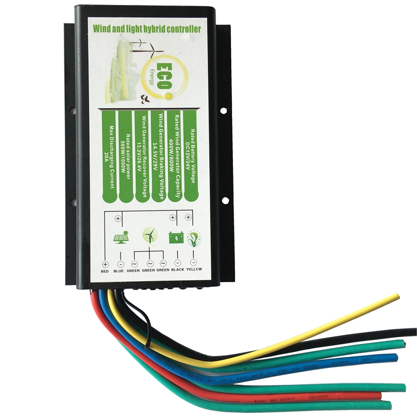 цена на Waterproof Wind and Solar Hybrid 20A Solar Charge Controller 12V for 300W wind+500W solar 24V for 600w wind+1000W solar