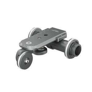 Image 1 - Kingjoy Ppl 06 Mini Motorized Electric Track Slider Dolly Car 3 Wheel Video Pulley Rolling Skater For Dslr Camera Camcorder