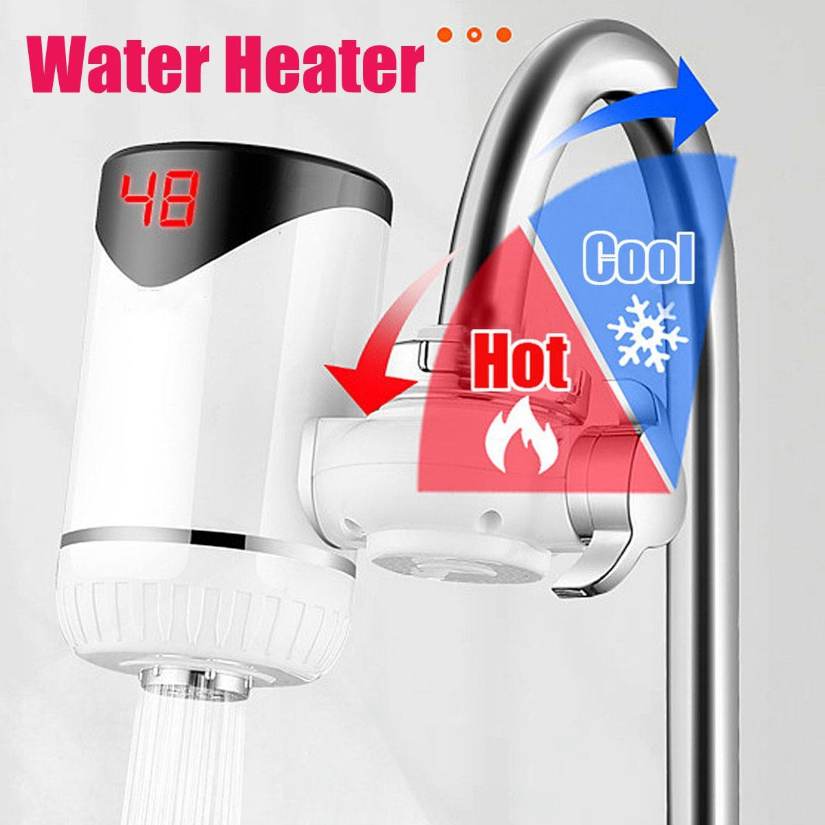 Instant Hot Water Faucet Electric Kitchen Water Heater Tap Heater Cold Heating Faucet Tankless Instantaneous Water Heater