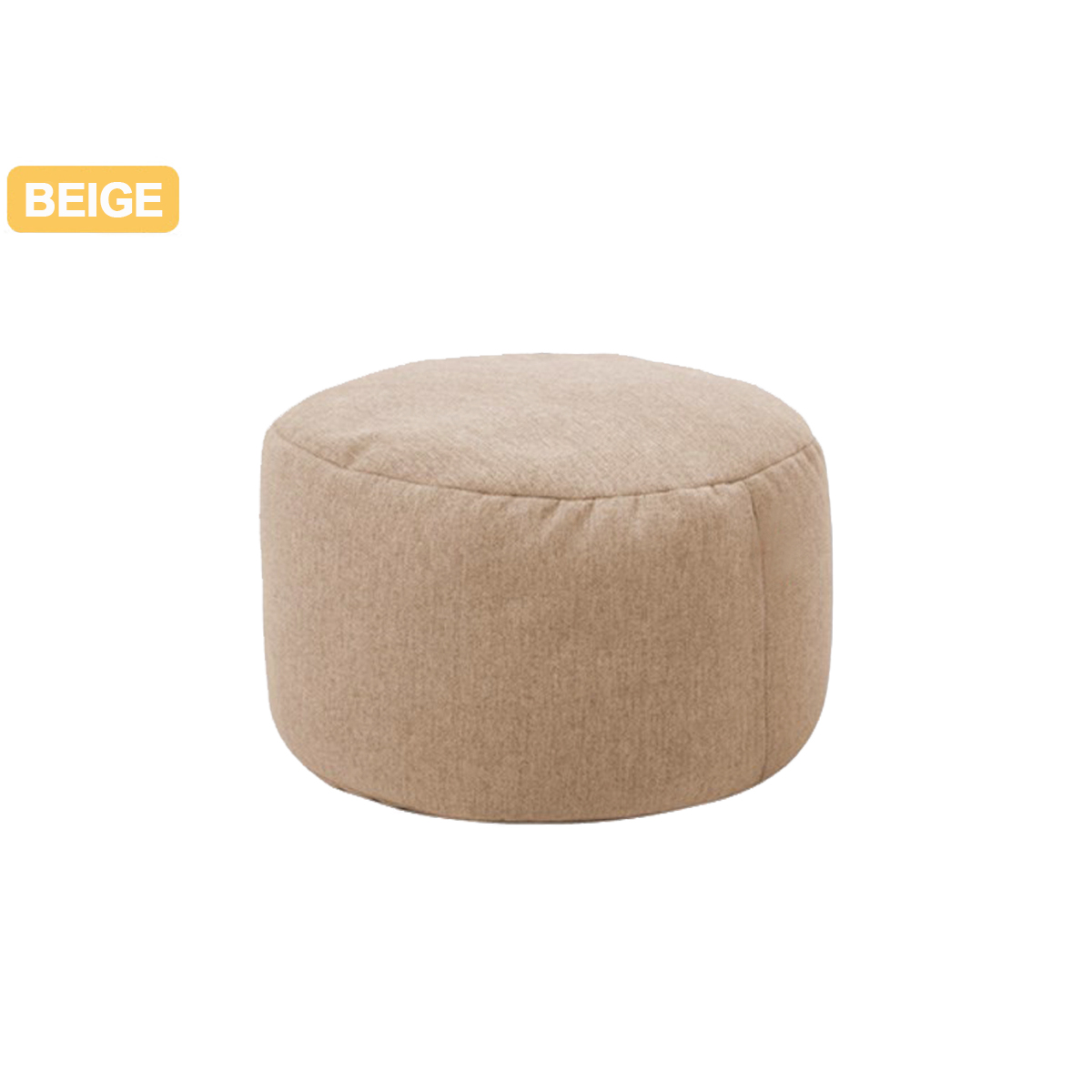 Solid Color Chair Cover Beanbag Sofas Without Filler Small Round Lazy BeanBag Sofa Cover Waterproof Stuffed Storage Toy Bean Bag