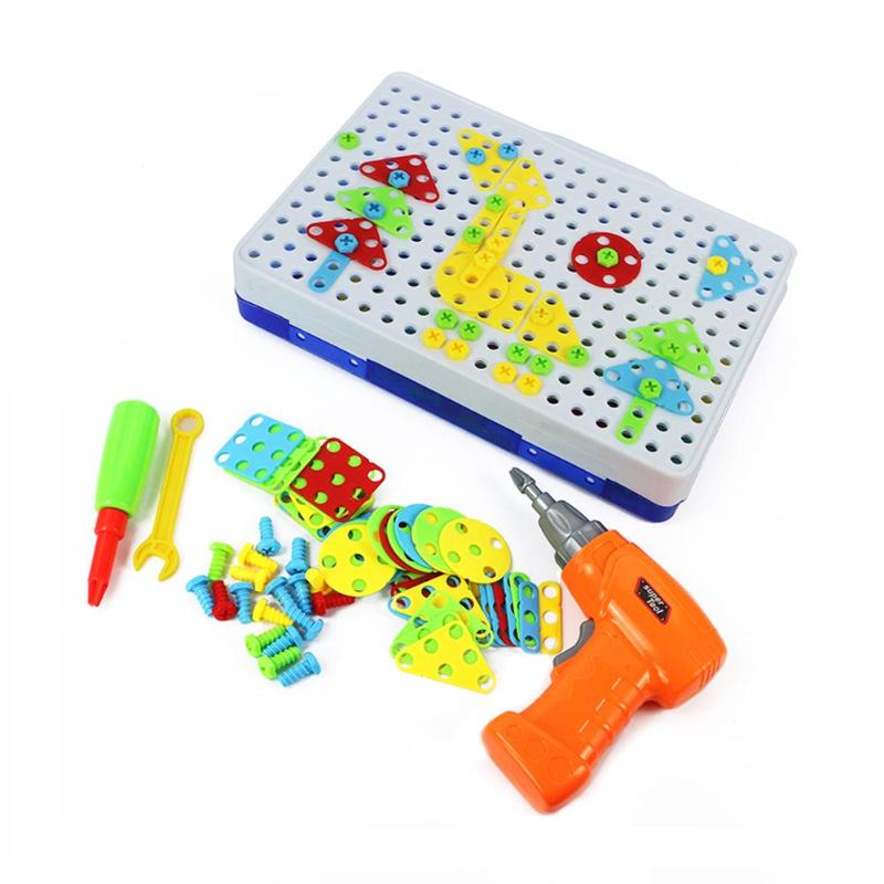 Children Electric Drill Nut Disassembly Match Tool Educational Toys Assembled Blocks Sets Diy Building Toys 2019 Toys & Hobbies