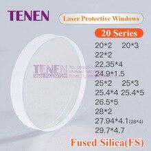 цена на Laser Protective Windows Size 25 * 3 mm Material Quartz Protection Lens For Optical Fiber Laser Cutting Welding Machine 1064nm