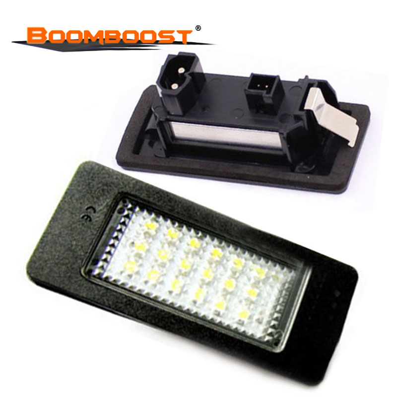 2Pcs <font><b>12V</b></font> 18SMD LED Car Lights For BMW E39 M5 <font><b>E5</b></font> E90 E90 E92 E93 E70 E71 X5 X6 M3 Number plate Light LED License plate lamp image