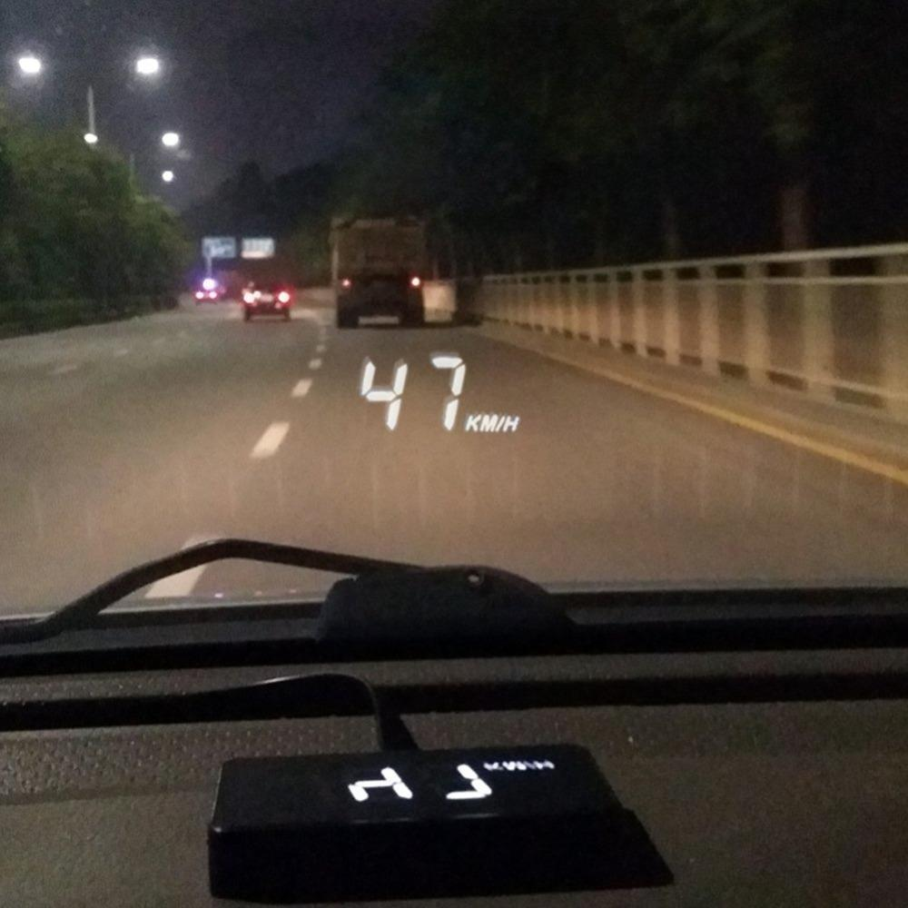 Car HUD Head Up Display OBD2 II EUOBD Overspeed Warning System Projector Windshield Auto Electronic Voltage Alarm Car Accessorie