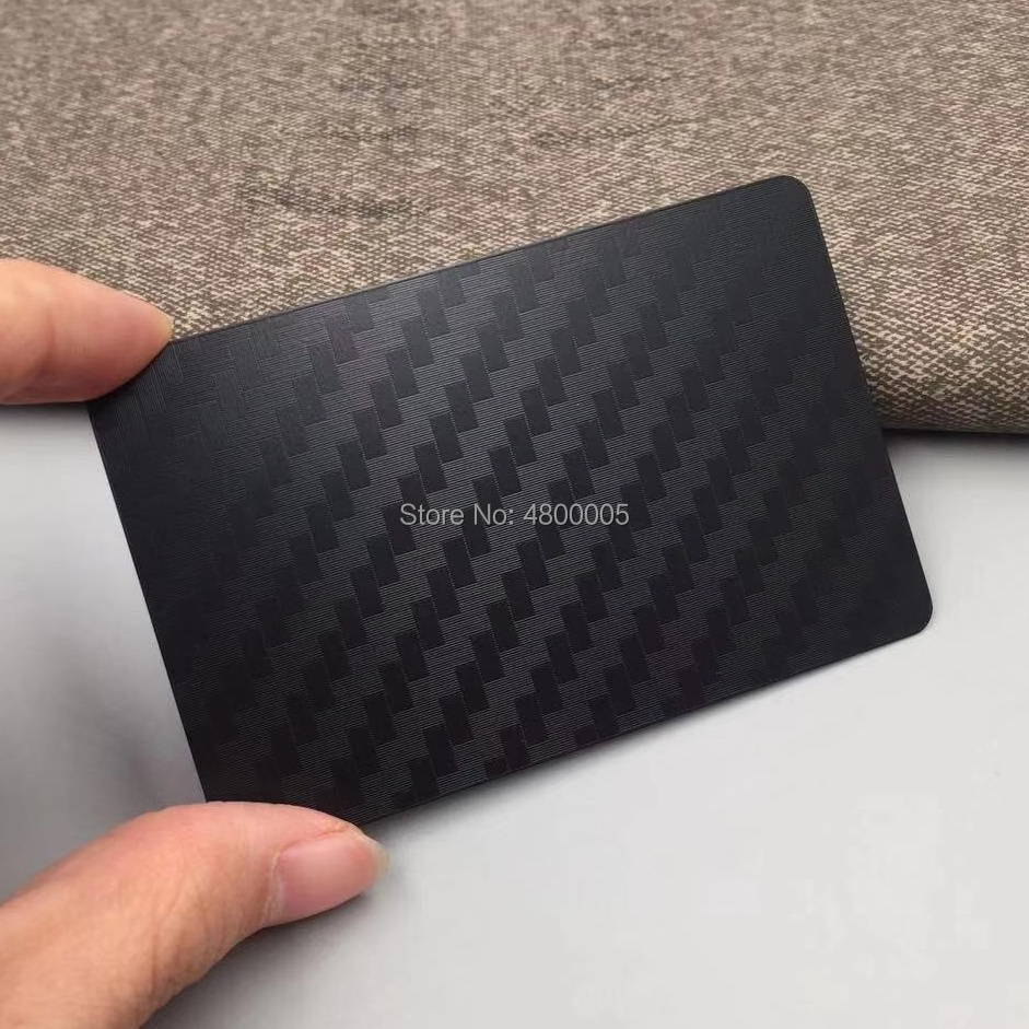 Stainless Steel Laser Etching Black Metal Business Card