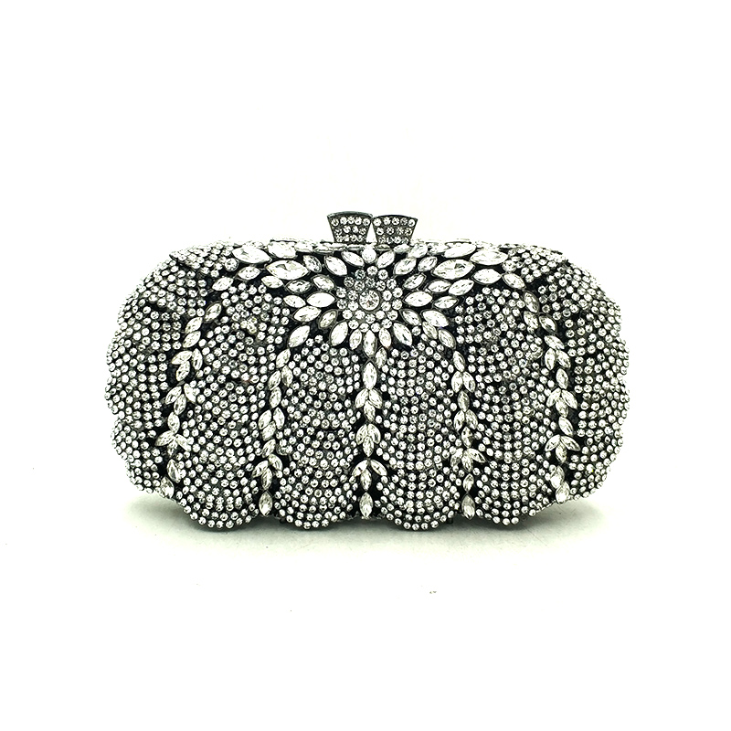 Elegant diamonds bag evening party rhinestone hollow out clutches women crystal purses bridal wedding party clutches