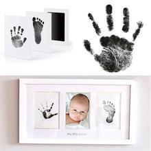 Новорожденный ребенок Handprint отпечаток лапа маслом Картина чернильный коврик фото ручной лапки коврик для печати замечательный сувенир