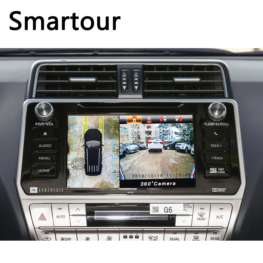 Smartour 3D 360 Surround View Driving Support Bird View Panorama DVR System 4 Car Camera 1080P Car Video Recorder For Honda crv