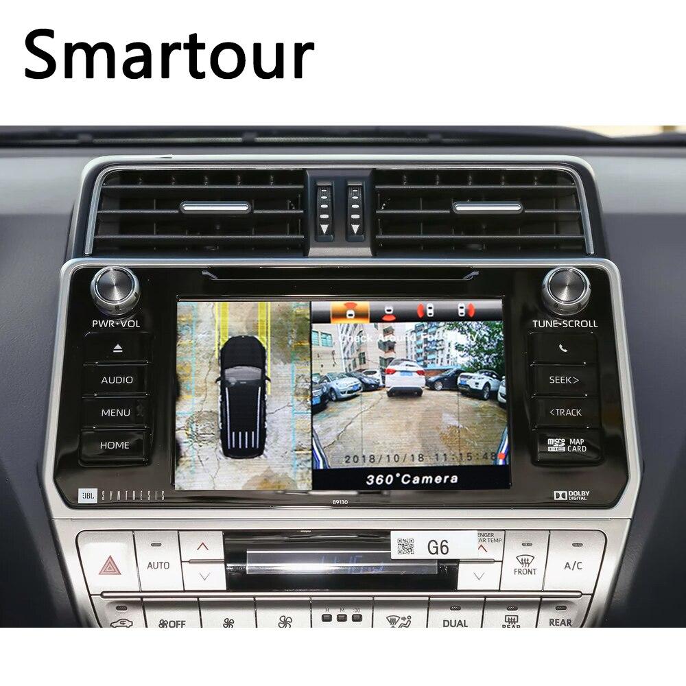Smartour 3D 360 vue Surround Support de conduite vue oiseau Panorama DVR système 4 caméra de voiture 1080 P enregistreur vidéo de voiture pour Honda crv