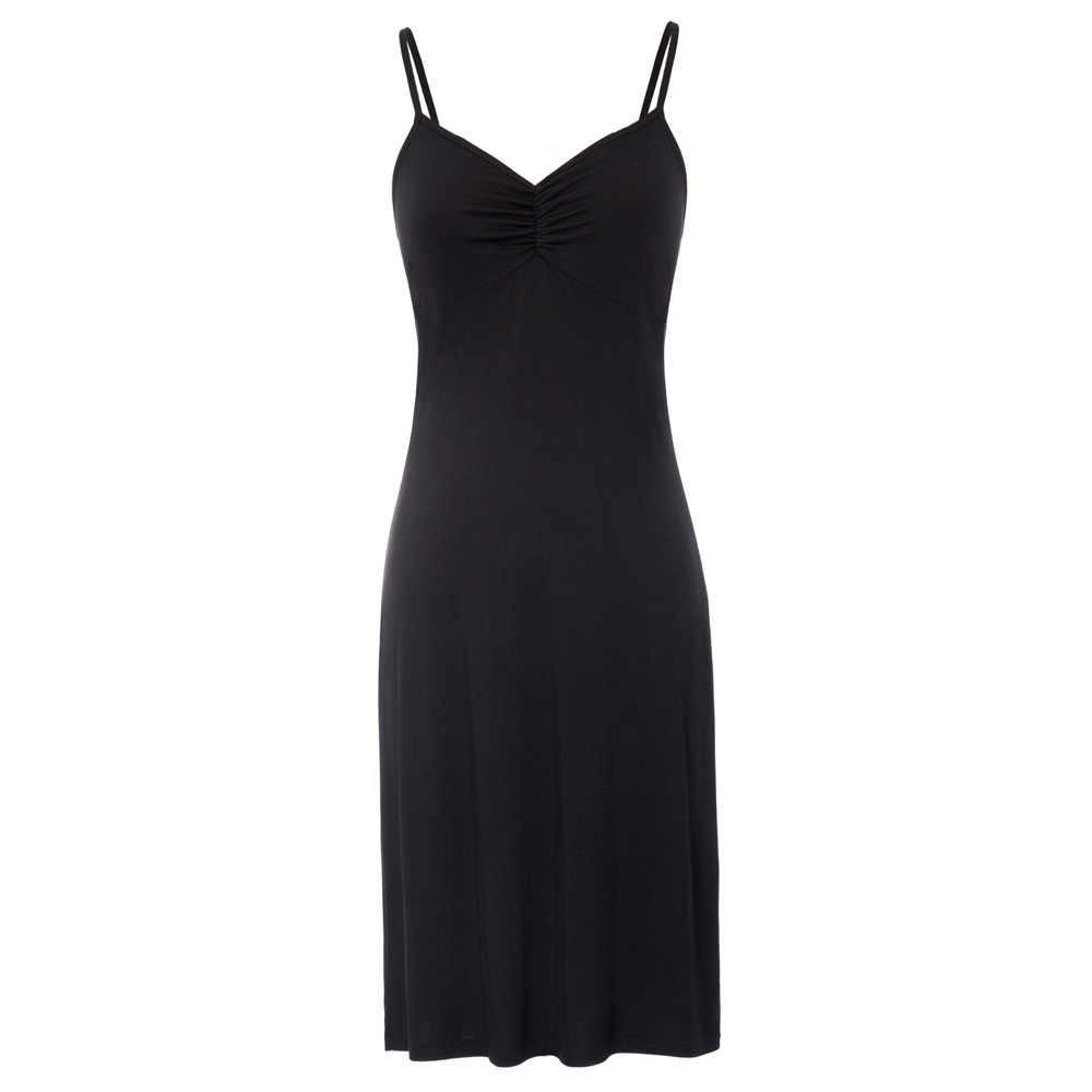 d4069c04ba7 Womens Full Silk Slips with Bra Sexy V-neck Fitness Silk Petticoat 100% Silk