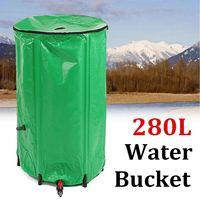 280L EVA Rain Barrel Foldable Water Collection Bucket Tank Rain Storage Outdoor Rain Harvesting Tool