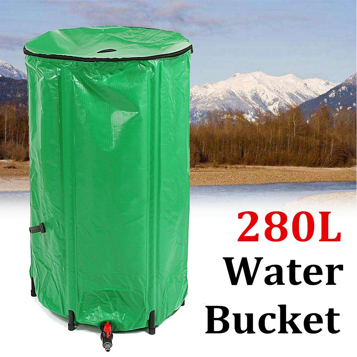 280L EVA baril de pluie pliable réservoir de collecte d'eau réservoir de pluie stockage de pluie outil de récolte de pluie en plein air