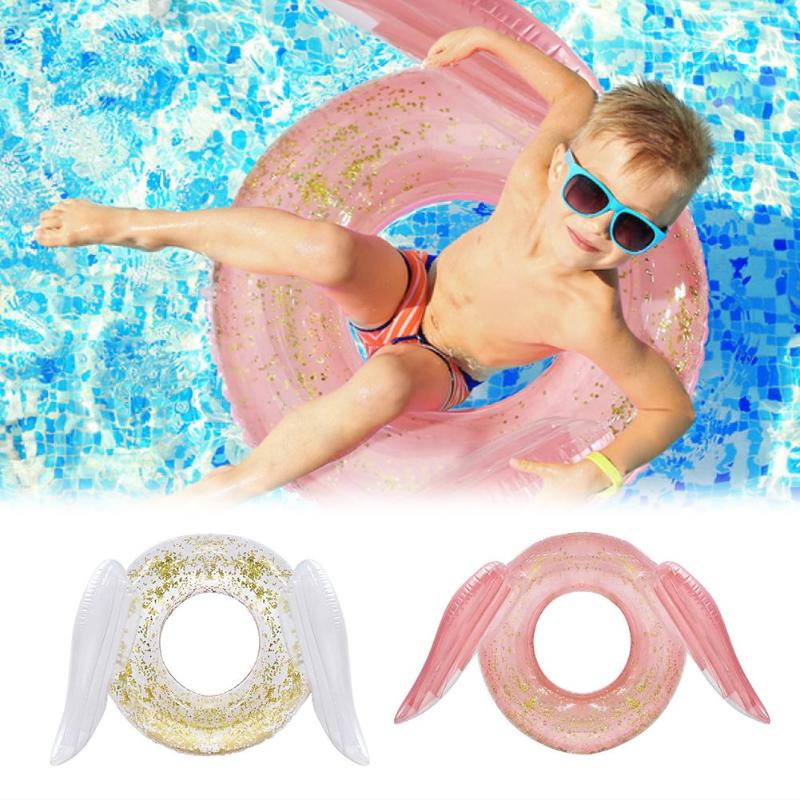 Children Sequins PVC Swimming Ring Cute Inflatable Pool Float Swim Circle