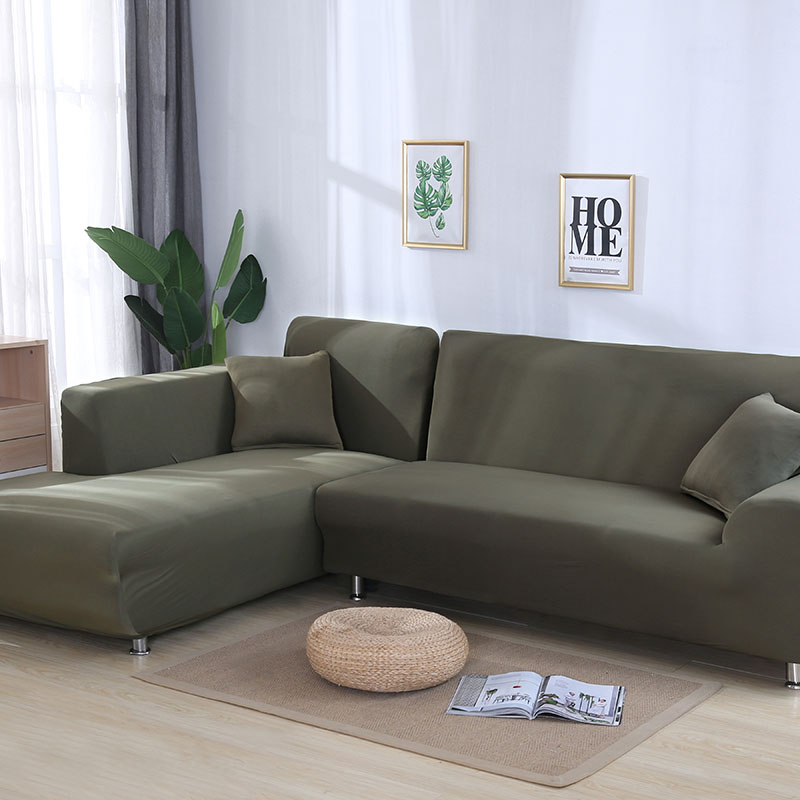 solid color corner sofa covers for living room sofa cover elastic for pets slipcovers stretch sectional
