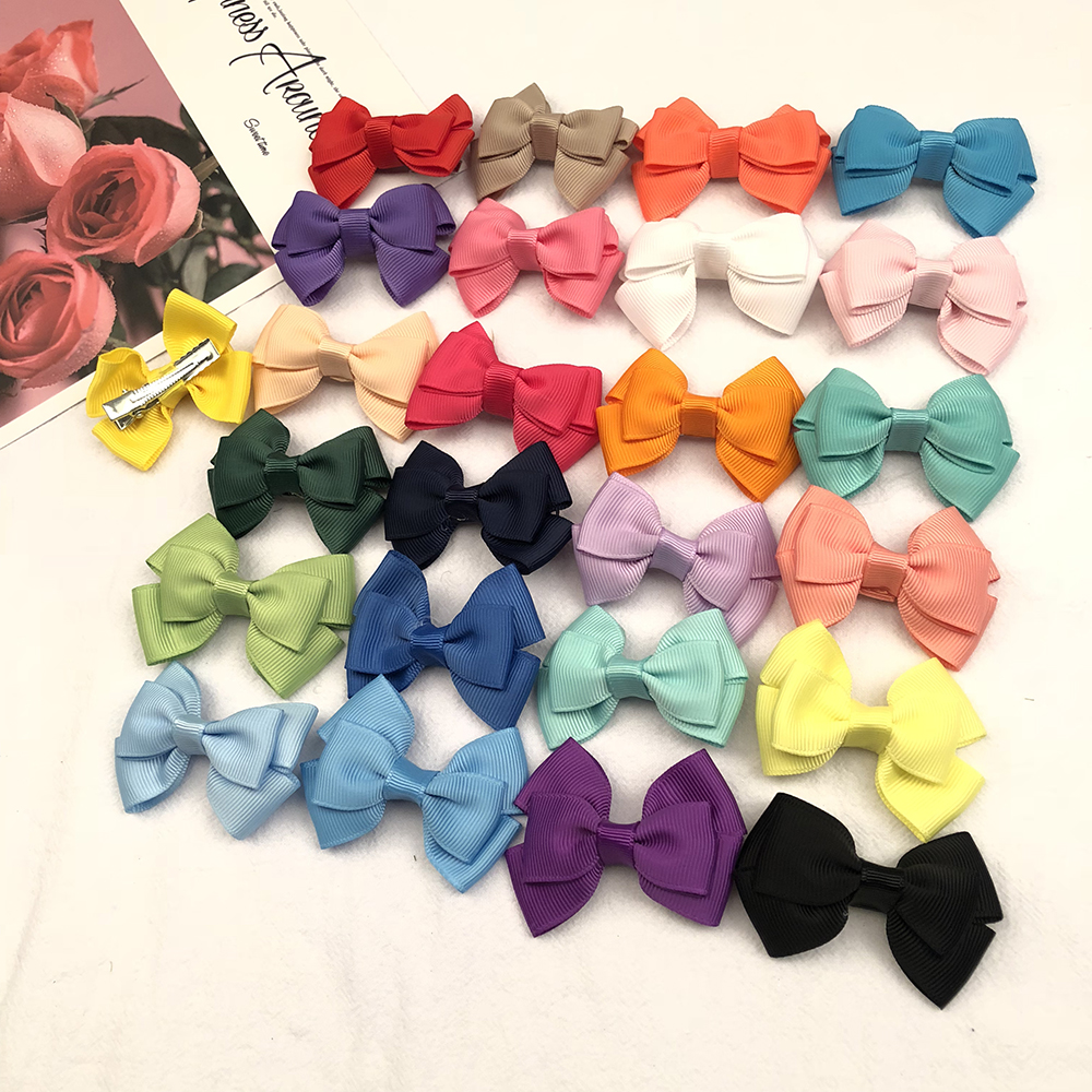 Oaoleer Hair Accessories Hair Bows Grosgrain Ribbon Hair Clips Kids Boutique Hairbows Girls 2.5''   Headwear
