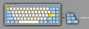 Image 2 - 1 set DSA PBT Sublimazione Chiave Cappellini 60% Tastiera Meccanica Chiave Cappellini Godspeed Colore di Corrispondenza Per Star Wars della Tela di canapa carattere