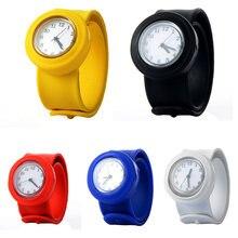 Милые мягкие силиконовые Мультяшные часы для детей детские кварцевые