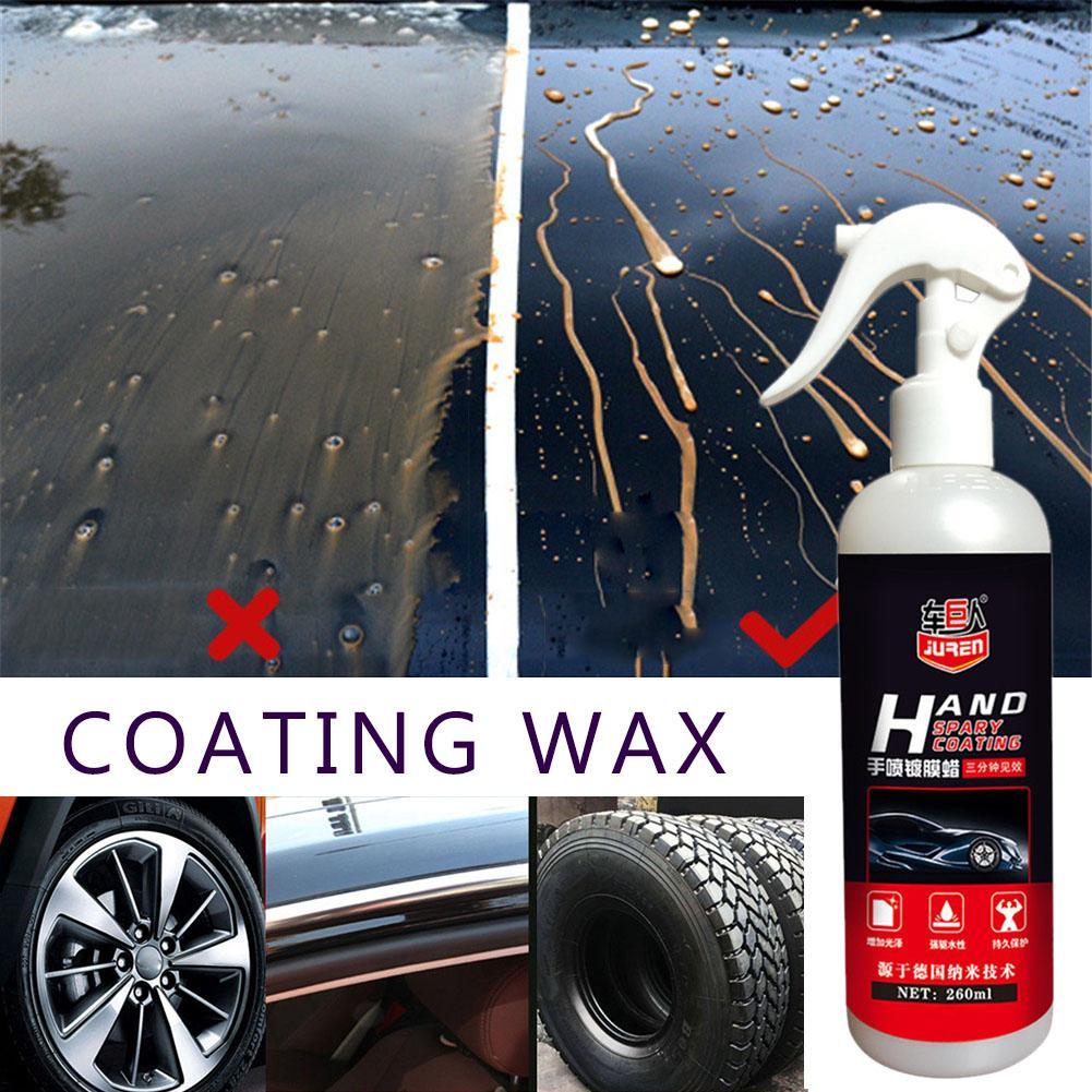 Liquid Ceramic Spray Coating Car Polish Spray Sealant Top Coat Quick Nano-Coating 260ML Car Spray Wax Car Cleaning Dropshipping