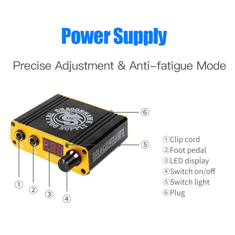 Top Quality Mini Tattoo Power Box Dragonhawk LCD For Tattoo Machine Power Switch SupplyTop Quality Mini Tattoo Power Box Dragonhawk LCD For Tattoo Machine Power Switch Supply